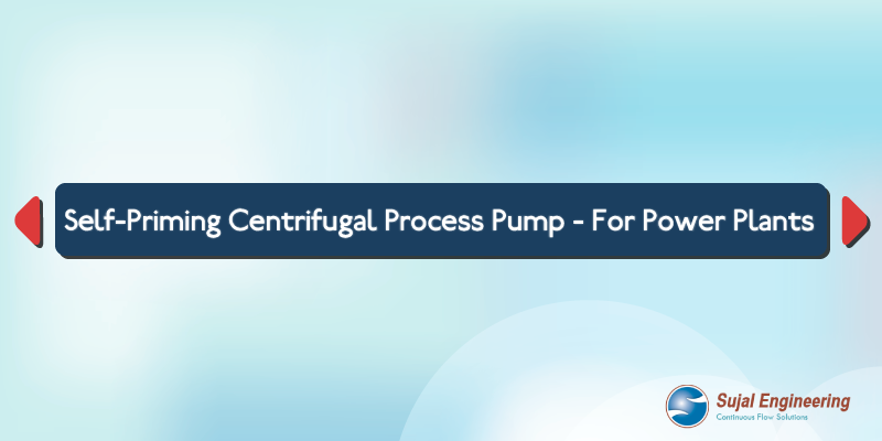 SELF PRIMING CENTRIFUGAL PROCESS PUMP