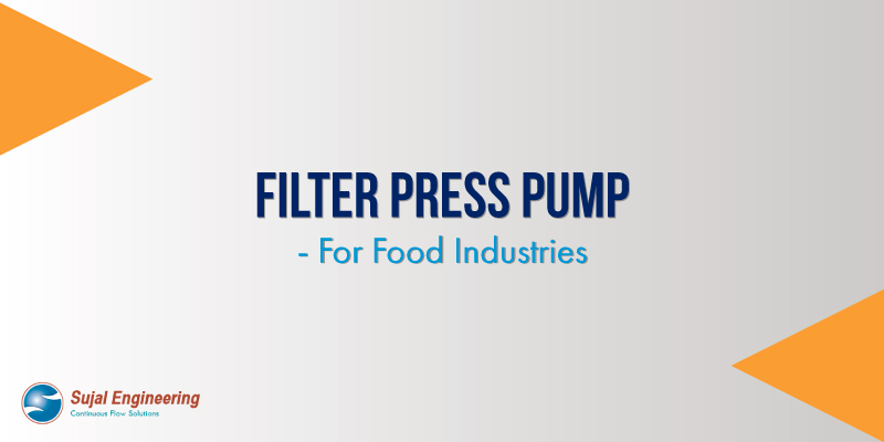 Filter Press Pump - For Food Industries in USA, UK, UAE, Germany, India